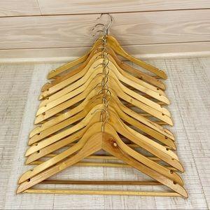 Wooden Hangers 12 pieces dozen